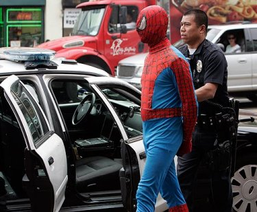 Spider-man-arrest