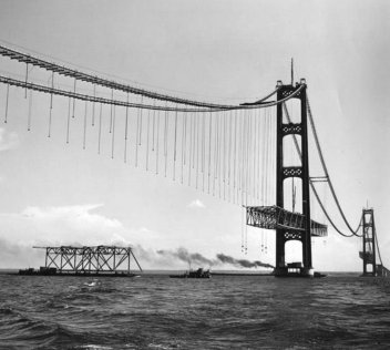 Mackinac Bridge-1957