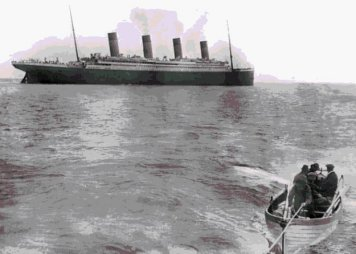 Last photo of the Titanic before she started sinking - Cave News