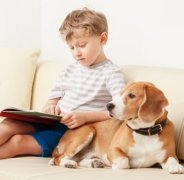 Dog-book-child